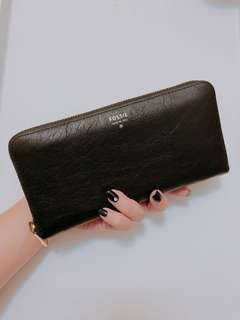 Fossil wallet with wristlet strap (come with box)