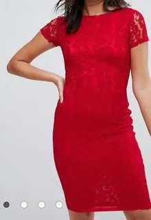 AX Paris lacy red dress