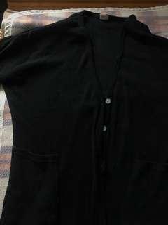 🚚 黑色薄針織外套 出清