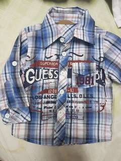 Kemeja guess 9m  cndition 8/10
