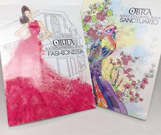 Bundle: Adult Coloring Book (Fashion and Nature Birds)