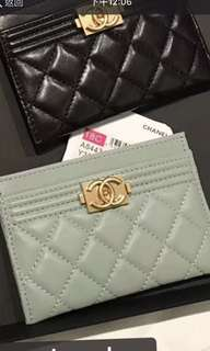 Chanel card holder  (Tiffany blue color )