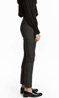 H&M GRID/CHECKERED TROUSERS