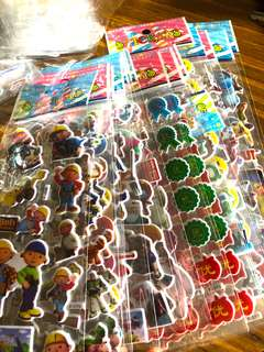 $0.25 BUBBLE STICKERS for children