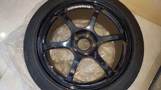 "Genuine Advan RG2 18"" rims"