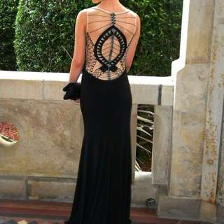 Lace Back Formal Gown