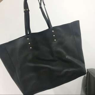 Zara faux leather tote bag