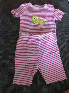 2T Owl top and shorts