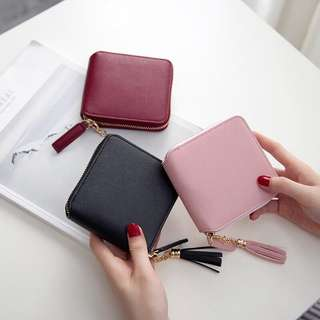P.O - Small Leather Tassel Wallet
