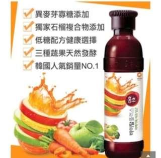 🚚 韓國清淨園HONG CHO紅醋美形美肌飲隨手瓶 綜合蔬果 250ml
