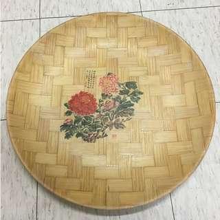 珍藏 70年代 台灣製 大竹盤 茶葉盤