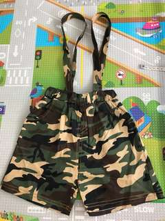 Camo Shorts with suspenders
