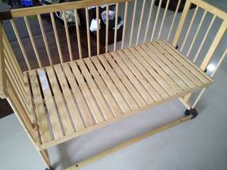 Baby cot - tooless assembly