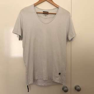 Guc Men's GStar Size M Pale Blue TShirt Tee Genuine