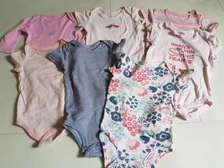 Baby girl rompers 6-12m