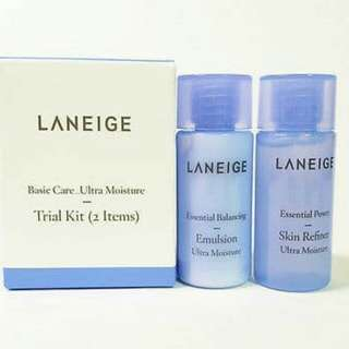 Laneige Basic Care Ultra Moisture Trial Kit 2 Items
