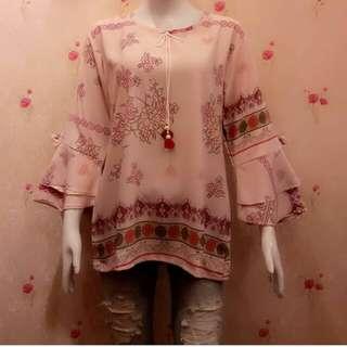 Pattern Pink Blouse