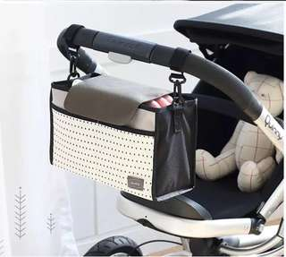 🌈(Ready Stock) 🆕Brand New Baby Stroller / Pram / Baby Cot Organizer Storage Bag Holder