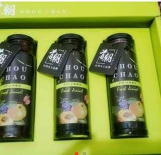 天然果飲禮盒組 : 蔓越莓,藍莓,桑葚 250ml*3