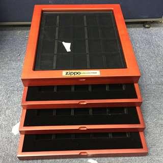 Zippo 打火機收藏木盒 可放80個 全新未開 來貨有小花 特價處理