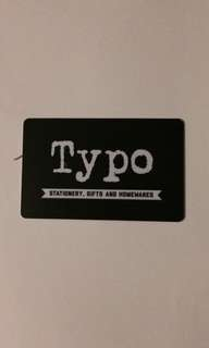 Typo Card gift