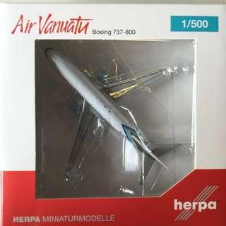 Air Vanuatu B737-800 Herpa Wings Club Model 1/500