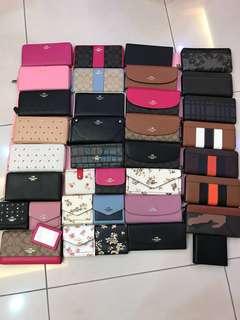 (21/4/18)Ready Stock women wallet clutch wristlets coach Kate Spade Tory Burch Guess Micheal Kors Victoria's Secret bonia Pandora furla
