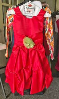 RED SAGALA DRESS FOR 3-5 y/o