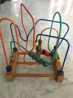 Bead maze for toddler