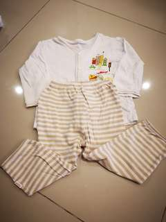 Sleeping suits 3-6 mth