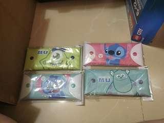 特價$18/個 全新 韓國 迪士尼卡通 怪獸大學 毛毛 大眼仔 史迪仔 筆袋