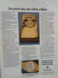 Vintage Rolex Advert 1803 President day date