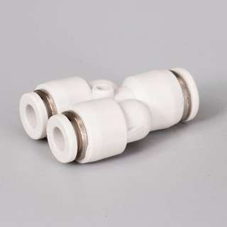 Air Fittings 1x8mm to 2x6mm Female Y Pneumatic Fittings.