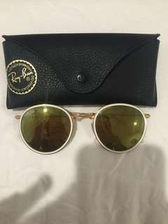 Authentic rayban folding round sunglasses RB3517