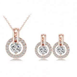 RoseGold plated Jewelry Set