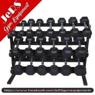 Dumbbell Set (5-50 lbs) with Rack