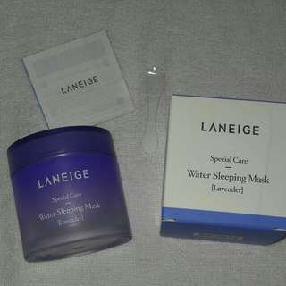 New Laneige Special Care Water Sleeping Mask Lavender