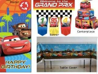 Disney Car Party Supplies