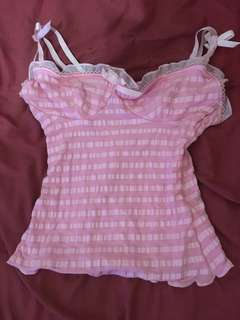 Wheels dollbaby pinup pink top xs s 8 10