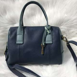Fossil Jori Small Satchel in Blue Multi