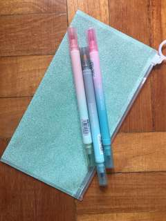 Set of 3 Double Tip Highlighter (6 colors)
