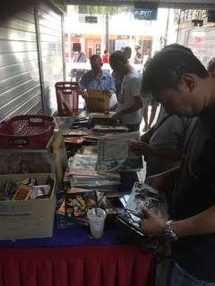 Records and Cd.. in Fook Hai Sunday flea markets