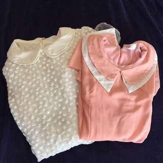 Take Both! Korean Collared Dress Bundle
