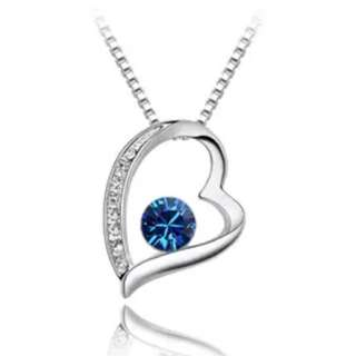Korean style heart pendant chain necklace