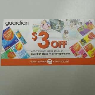 Guardian $3 off voucher