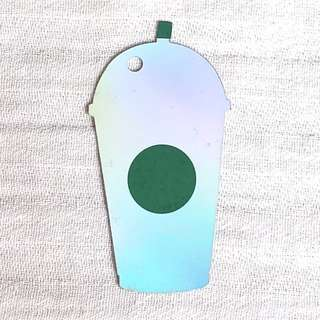 Starbucks mini Frappuccino keyring card