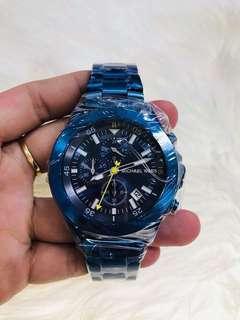 MICHAEL KORS MK8571 WALSH BLUE TONE STEEL CHRONO WATCH