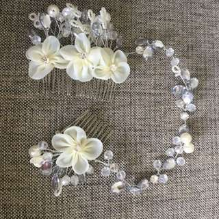 BRAND NEW Exquisite Bridal Hair Pearl Gem Accessory