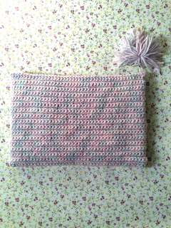 Mixed Pastel Large Pouch/Bag