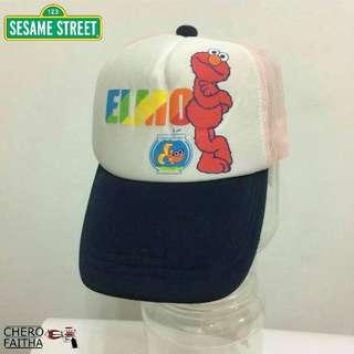 Sesame street Elmo kid hat cap trucker snapback topi budak